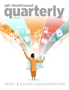 WelthCounsel quartetly summer 2021 magazine deal with Dividing Tangible Personal Property